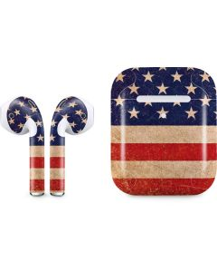 Distressed American Flag Apple AirPods 2 Skin