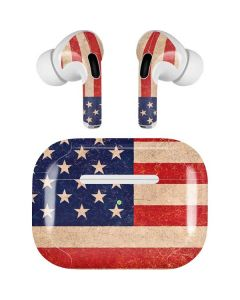Distressed American Flag Apple AirPods Pro Skin