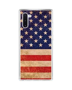 Distressed American Flag Galaxy Note 10 Clear Case