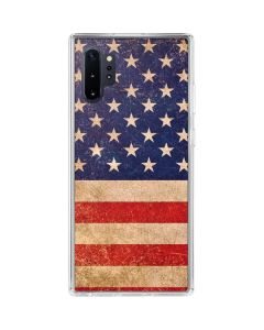 Distressed American Flag Galaxy Note 10 Plus Clear Case