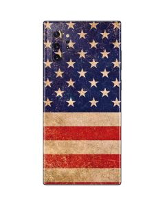 Distressed American Flag Galaxy Note 10 Plus Skin