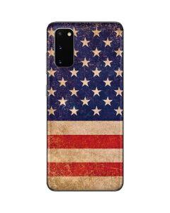 Distressed American Flag Galaxy S20 Skin