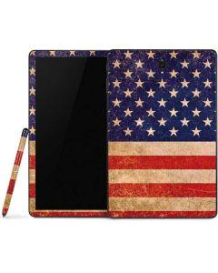 Distressed American Flag Samsung Galaxy Tab Skin