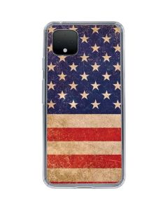 Distressed American Flag Google Pixel 4 Clear Case