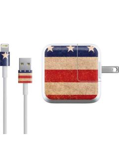 Distressed American Flag iPad Charger (10W USB) Skin