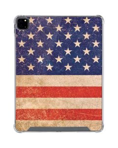 Distressed American Flag iPad Pro 12.9in (2020) Clear Case