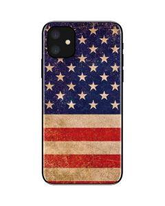 Distressed American Flag iPhone 11 Skin