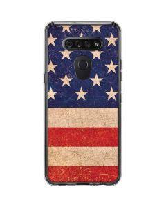 Distressed American Flag LG K51/Q51 Clear Case