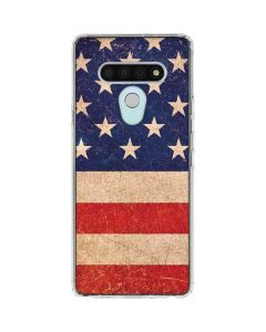 Distressed American Flag LG Stylo 6 Clear Case