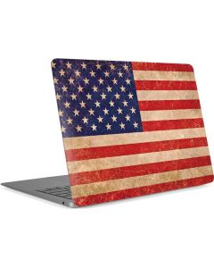 Distressed American Flag Apple MacBook Air Skin