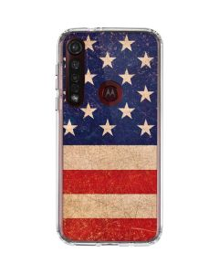 Distressed American Flag Moto G8 Plus Clear Case
