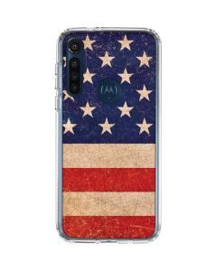 Distressed American Flag Moto G8 Power Clear Case