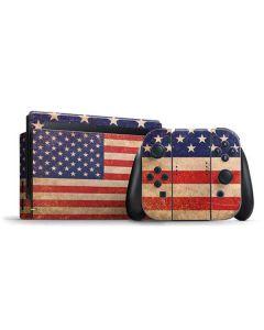 Distressed American Flag Nintendo Switch Bundle Skin