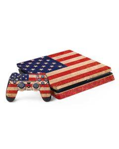 Distressed American Flag PS4 Slim Bundle Skin