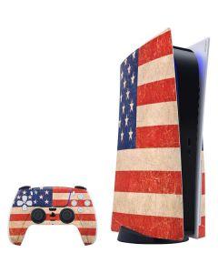 Distressed American Flag PS5 Bundle Skin