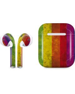 Distressed Rainbow Flag Apple AirPods Skin