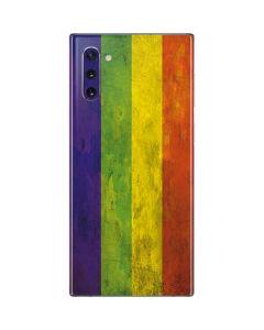 Distressed Rainbow Flag Galaxy Note 10 Skin