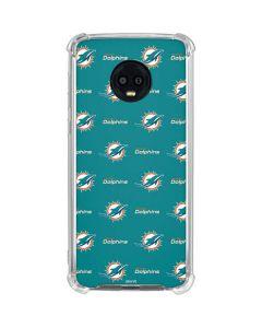 Miami Dolphins Blitz Series Moto G6 Clear Case