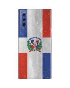 Dominican Republic Flag Faded Galaxy Note 10 Skin