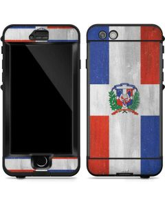 Dominican Republic Flag Faded LifeProof Nuud iPhone Skin