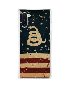 Dont Tread On Me American Flag Galaxy Note 10 Clear Case