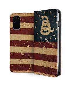 Dont Tread On Me American Flag Galaxy S20 Folio Case