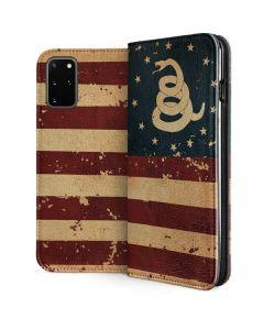 Dont Tread On Me American Flag Galaxy S20 Plus Folio Case