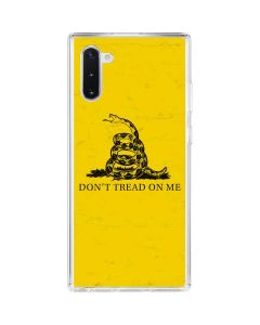 Dont Tread On Me Galaxy Note 10 Clear Case