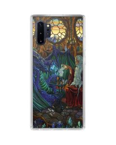 Dragon and Wizard Playing Chess Galaxy Note 10 Plus Clear Case