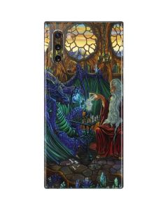 Dragon and Wizard Playing Chess Galaxy Note 10 Skin