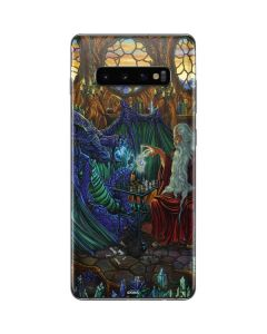 Dragon and Wizard Playing Chess Galaxy S10 Plus Skin