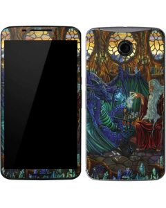 Dragon and Wizard Playing Chess Google Nexus 6 Skin