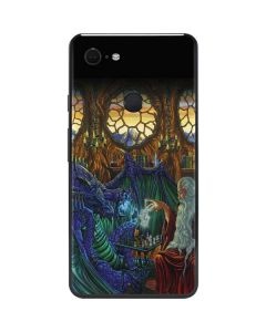 Dragon and Wizard Playing Chess Google Pixel 3 XL Skin