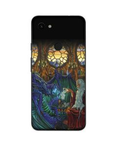 Dragon and Wizard Playing Chess Google Pixel 3a Skin