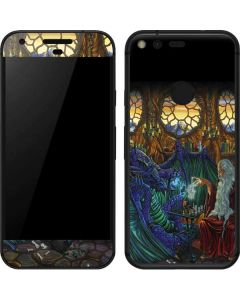 Dragon and Wizard Playing Chess Google Pixel Skin