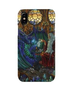 Dragon and Wizard Playing Chess iPhone XS Max Lite Case