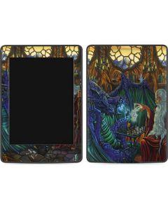 Dragon and Wizard Playing Chess Amazon Kindle Skin
