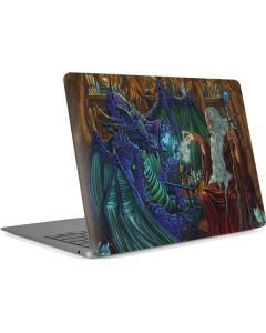 Dragon and Wizard Playing Chess Apple MacBook Air Skin