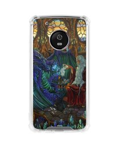Dragon and Wizard Playing Chess Moto G5 Plus Clear Case