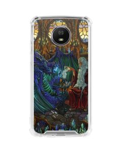 Dragon and Wizard Playing Chess Moto G5S Plus Clear Case