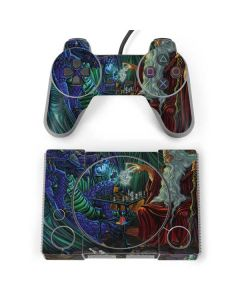 Dragon and Wizard Playing Chess PlayStation Classic Bundle Skin