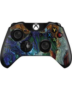 Dragon and Wizard Playing Chess Xbox One Controller Skin