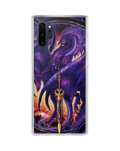Dragonblade Netherblade Purple Galaxy Note 10 Plus Clear Case