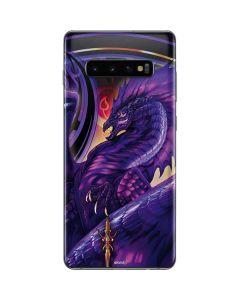 Dragonblade Netherblade Purple Galaxy S10 Plus Skin