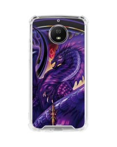 Dragonblade Netherblade Purple Moto G5S Plus Clear Case