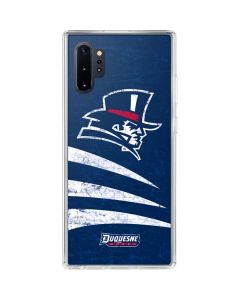 Duquesne Dukes Distressed Galaxy Note 10 Plus Clear Case