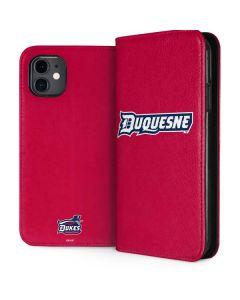 Duquesne Dukes iPhone 11 Folio Case