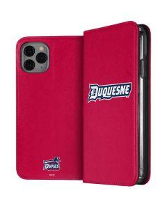 Duquesne Dukes iPhone 11 Pro Folio Case