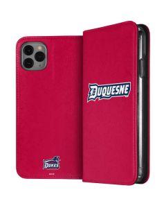 Duquesne Dukes iPhone 11 Pro Max Folio Case