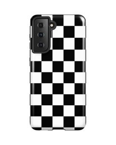 Black and White Checkered Galaxy S21 5G Case